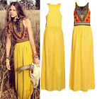 Celeb Womens Sexy Boho Long Maxi Dress Ladies Summer Beach Party Sundress CHIC