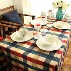 Table Cloth Wipe Clean Home Decor Cover Cotton Linen for Home Cafe 7 Sizes