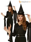 Ladies Sexy Black Witch Costume Size 10 12 14 Halloween Fancy Dress Womens