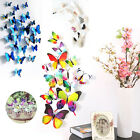 12/18pcs 3d Pvc Butterfly Art Decal Wall Sticker Home Party Kid Room Decoration