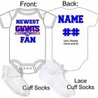 PERSONALIZED NEW YORK GIANTS BABY GERBER ONESIE CUSTOM MADE PERFECT GIFT $22.99 USD on eBay