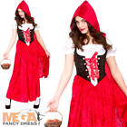 Deluxe Little Red Riding Hood Ladies Fancy Dress Fairytale Womens Adults Costume