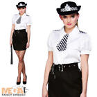 Police Woman Constable Ladies Fancy Dress Cops Uniform Womens Adults Costume New