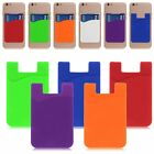 Silicone Wallet Credit ID Card Adhesive Holder Case For Cell  Phones 3.5''X2.3''