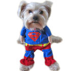 Pet Cat Dog Puppy Clothes Costumes Apparel T Shirt Superman Suit for Small Dog