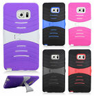 For Samsung Galaxy Note 7 HYBRID Hard Gel Rubber KICKSTAND Case Phone Cover