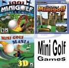 MINI-GOLF SOFTWARE GAMES Windows PC XP Vista 7 8 10 NEW Factory Sealed