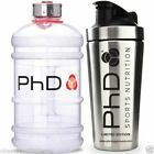 Phd Stainless Steel 700ml Shaker Bottle for Whey Protein + PHD 2.2L WATER JUG