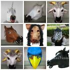 Carnival Mask Masquerade Latex Full Head Overhead Animal Cosplay Fancy Dress Up