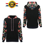 Women's Floral Long Sleeve Hoodie Sweatshirt Jumper Pullover Tops Shirt Coat