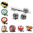 Personalized Engravable Superhero The Avengers Cufflinks Tie Bar Clip Clasp Set