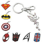 Key Chain Ring Engravable Silver Superhero Justice League The Avengers Gift