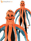 Adult Octopus Big Head Costume Mens Ladies Funny Fancy Dress Sea Creature Outfit