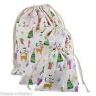1PC New Gift Linen Elk Pattern Christmas Tree Present Storage Packing Bags