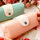 Fashion Leather Makeup Cosmetic Bag Brush Pen Pencil Case Organizer Pouch Box