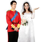 British Royal Wedding Adults Fancy Dress Prince William Kate Middleton Costume