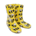 Fun Bee Wellies Kids Girls Boys Boots Welly Yellow Size 7,8,9,10,11,12,13,1,2,3