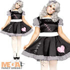 Broken Rag Doll Plus Size Ladies Fancy Dress Halloween Dolly Adults Costume New