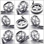 Unisex Mens The Signs of the Zodiac Stainless Steel Necklace Pendant Gift New
