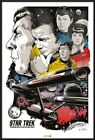 STAR TREK CLASSIC - FRAMED POSTER / PRINT (50th ANNIVERSARY CHARACTER MONTAGE)