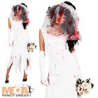 Zombie Bride Halloween Ladies Fancy Dress Adults Undead Horror Costume Outfit
