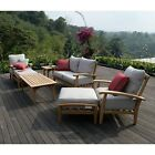 All Weather Patio Furniture Teak Outdoor 7 Pc Seating Deck Garden Patio Pool Set