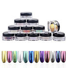 12Color 2g/Box Glitter Magic Mirror Chrome Effect Dust Shimmer Nail Art Powder D for sale  Hong Kong