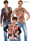 Adults Halloween T-Shirt Mens Skeleton Groom Zombie Fancy Dress T Shirt Top