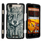 For ZTE Max Boost N9520 Case Hard Snap On 2 Piece Slim Shell Drawn Designs