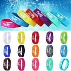 Hot Men Women Rubber White LED Date Sports Bracelet Digital Wrist Watch