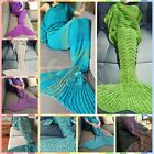 Mermaid Tail Blanket Warm and Soft Blankets For Kids And Adults Bedding Wrap