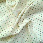 pink blue & green polka dot 100 % cotton fabric sold per fq half metre or metre