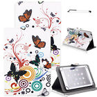 Universal PU Leather Pattern Stand Cover Case For AT&T Trek 2 HD 8'' LTE (6461A)