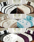 5Pc Bed In A Bag - Embroidered Duvet Cover Faux Satin Silk Complete Bedding Sets