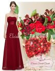 BNWT LOUISE Cranberry Red  Chiffon Bridesmaid Maxi Long Evening Dress UK 8 - 20