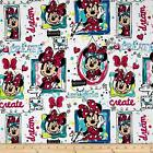 MINNIE MOUSE DREAM WINDOWS LICENSED DISNEY QUILT SEWING FABRIC *Free Oz Post