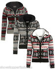 Womens New Zip Knitted Cardigan Top Ladies Fair Isle Knit Cardi Size 8 10 12 14