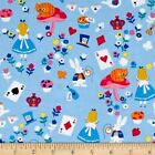 DISNEY ALICE IN WONDERLAND BLUE CRAFT SEWING QUILT FABRIC Free Oz Post