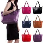 Womens Large Shoulder Tote Bag Carryall Casual Fashion Handbag Pu Leather Purse