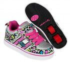 Heelys X2 Bolt Plus Shoes - Silver /Multi / Cheetah with built in Lights