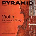 PYRAMID Aluminium Violin Geige Saiten SATZ in 7 Größen, Violin Strings SET
