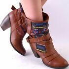 NEW WOMENS CHESTNUT MULTICOLOR NAVAJO DESIGN HIGH HEEL SLOUCH BOOTS