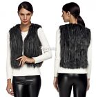 NEW Womens Winter Fashion Black Warm Faux Fur Long Vest Jacket Coat Waistcoat