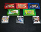 Pokemon Hot Game Cards Platinum Emerald Ruby US Version For GBA/3DS 1/3/5PCS