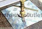 Trailer Caravan FLOOR PADS Steady Plates Tow Bar 3mm No Rot Chequerplate