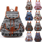 Vintage Women's Canvas Travel Satchel Shoulder Bag Backpack School Casual Girls
