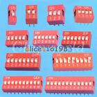 10Pcs Red 2.54mm Pitch Switch Ways Slide Type DIP 1 2 3 4 5 6 7 8 9 10 12 Bit