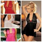 Women Sexy Lingerie Nightwear Underwear Babydoll Sleepwear Lace Dress G-string