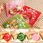 100PC/Set Self Adhesive Christmas Cookie Bags Cellophane Candy Gift Pouch New AU