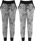 Womens Fleck Print Jogging Bottoms Ladies Full Length Pocket Stretch Elasticated